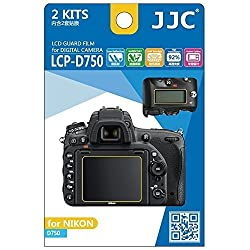 JJC LCP-D750 Low Reflection Anti-smudge High Transmission Perfect Cutting LCD Guard Film Display Screen Protector For Nikon D750 Camera