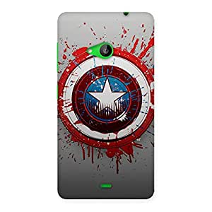 Voila Blood and Sheild Back Case Cover for Lumia 535