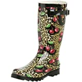 Chooka Women's Cherry Leopard Rainboot revision