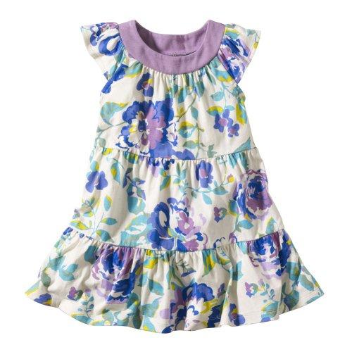 Tea Collection Baby-Girls Desert Rose Mini Twirl Dress, Rice (6-12 Months)