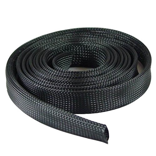 "Expandable Braided Cable Sock Black 1/2""(12.7mm) x 100 Ft (30.48m)"