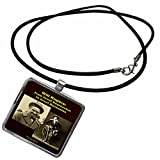 3dRose Sandy Mertens Writers World - Will Rogers From Great Depression to Great Recession - Necklace With Rectangle Pendant (ncl_26362_1)