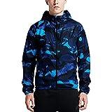 (ナイキ) NIKE ランニングジャケット ウインドブレーカー ウインドジャケット メンズ アウター ウェア 男性 トレーニング アウトドア 687594 XLサイズ (460)スクアドロンブルー