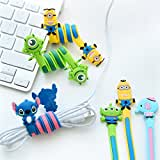"""NUGEN-PRO EARPHONE WINDER """"DOUBLE EYE MINION"""" [Cable Protector][Cable Organizer] [Cable Wrap] [COMPATIBILITY WITH..."""