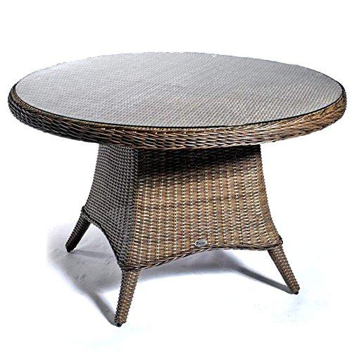 Gartentisch Destiny Luna 120 Ø cm Vintage Braun Geflechttisch Esstisch Tisch Polyrattan Wintergarten online kaufen