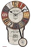 WALL CLOCK PENDULUM LONDON KENSINGTON STATION - Tinas Collection - The different design