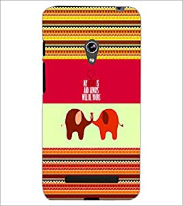 PrintDhaba Quote D-5069 Back Case Cover for ASUS ZENFONE 5 A501CG (Multi-Coloured)