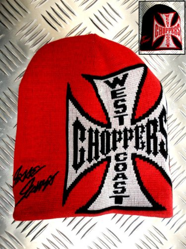 Jesse James West Coast Choppers Logo Rosso/Nero Reversibile Berretto
