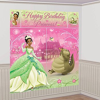 Princess and the Frog 'Sparkle' Giant Scene Setter Wall Decorating Kit (5pc) (Tiana Party Supplies compare prices)