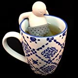 Gouda Select Set of 4 - Lazy Man Tea Infuser - The Tea Strainer that Makes you Smile - Cute