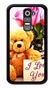 """Humor Gang Teddy I Love You Cute Printed Designer Mobile Back Cover For """"LG G2"""" (3D, Glossy, Premium Quality Snap On Case)"""