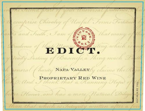 2010 Edict Proprietary Red Blend Napa Valley 750 Ml