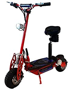 "Super Turbo 1000watt Elite 36v Electric Scooter ""Red"" (Now includes Econo/Turbo mode button!)"