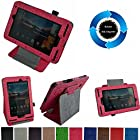 Mama Mouth 360 Degree Rotating Stand With Cute Lovely Pattern Case for 7 Verizon Ellipsis 7 4g LTE Tablet Rose Red