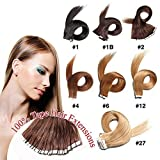 Top Quality Brazilian Virgin Hair, Tape in Hair Extensions 20PCS/ Set/50g 9 Colors Option, 100% human hair GUARANTEE or Money Back On Promotion #4 Chocolate Brown