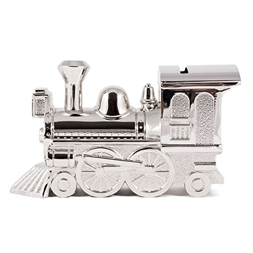 Non-Tarnish Nickel Plated Train Shaped Coin Savings Bank