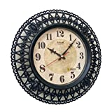 Sonam Quartz Designer Wall Clock 3597 ROUND Shaped (BLACK) and one KIDs watch Free