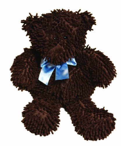 "Pam Grace Creations Chocolate Chip Bear - Chocolate with Blue Bow, 18"" - 1"