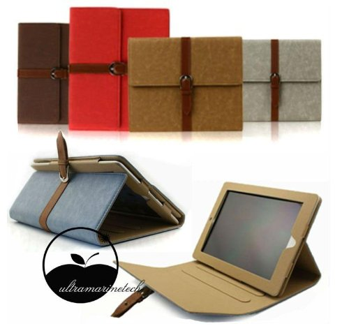 Apple Ipad2, Ipad3 Leather Case Cover With Kick Stand