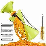 Brieftons NextGen Spiralizer: 4-Blade Vegetable Spiral Slicer, 150% Bigger, 50% Less Wastage, Perfect Veggie Spaghetti/Pasta Maker