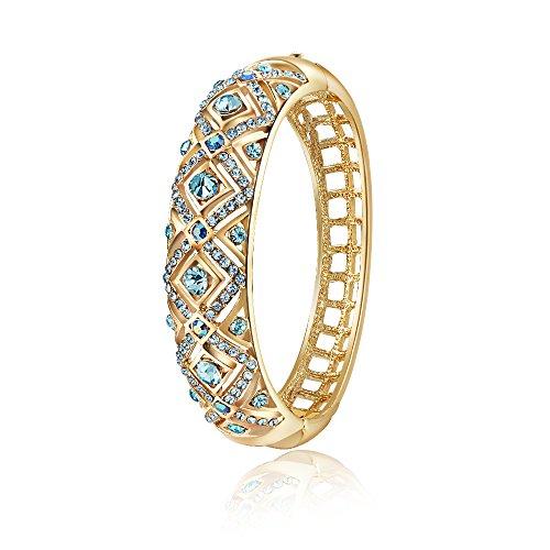 """City Ouna®""""Bohemien Chic"""" cristallo blu placcato oro rosa donne Bracciale Swarovski Elements donna Bracciale Bangle partito gioielli"""