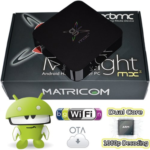 G-Box Midnight MX2 Android 4.2 Jelly Bean Dual Core XBMC Streaming Mini HTPC TV Box Player