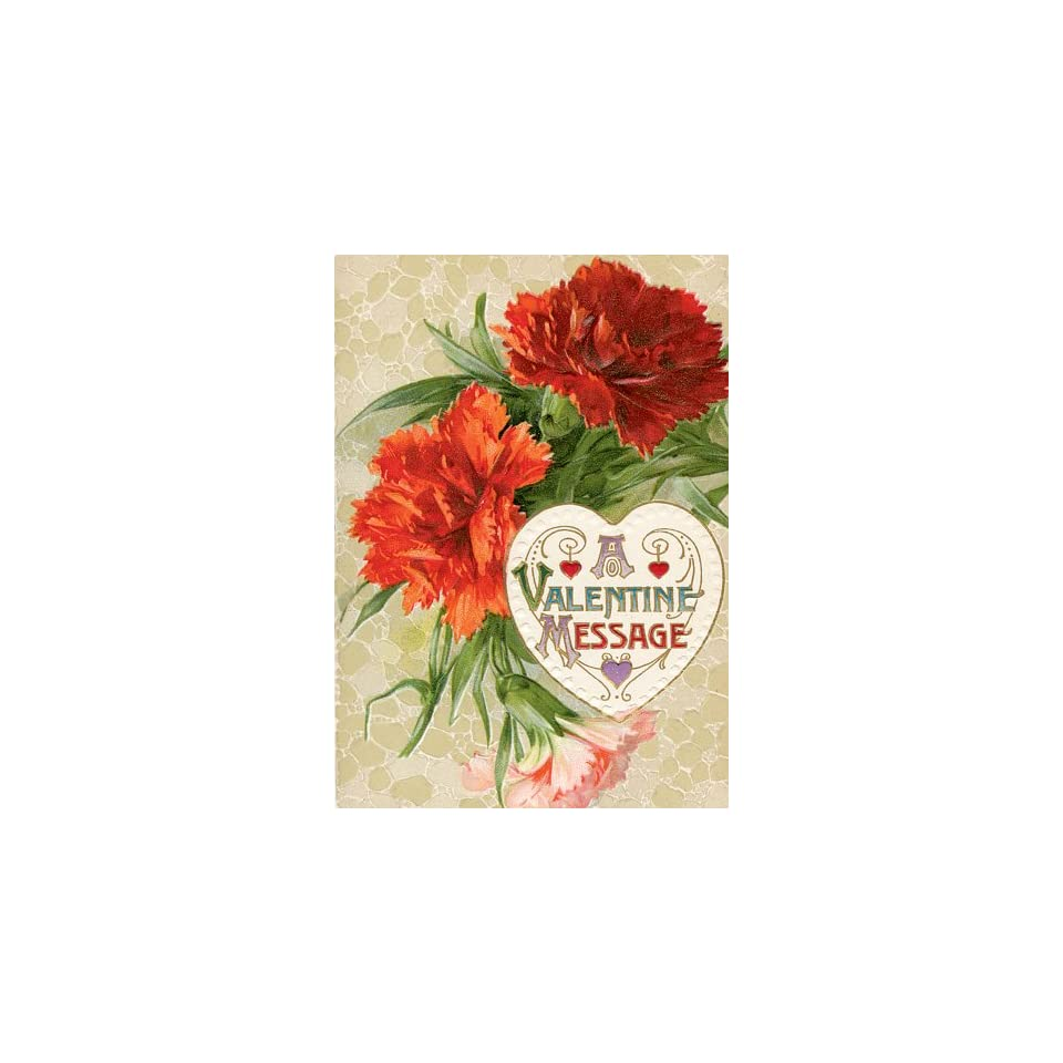 Quality Valentines Day Cards with Carnation Vintage Floral Message