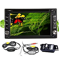See Wireless High Def Night View LED Camera+New Sale Android 4.2 Double Din 6.2 inch Capacitive HD Multi-touch Screen Car DVD Player Stereo In Dash GPS Navi Navigation Support 3G/Wifi/OBD2/Bluetooth/DVR/1080P/Air Play/SD/USB/AM/FM Radio/7 Color Panel Lights Details