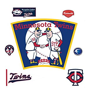 MLB Minnesota Twins Classic Logo Wall Decal by Fathead