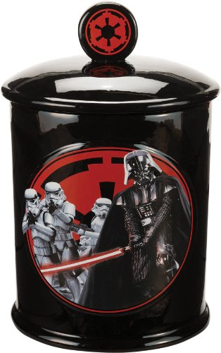 Vandor 99141 Star Wars Vader Dark Side Ceramic Cookie Jar, Black/Red/White