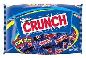 Nestle Crunch, , Fun Size Bigger Bag, 24-Ounce Bags (Pack of 4)