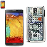 Reiko Plating Rivets Cover with New US Dollar 100 Bill Pattern Samsung Galaxy Note 3 - Retail Packaging - Clear