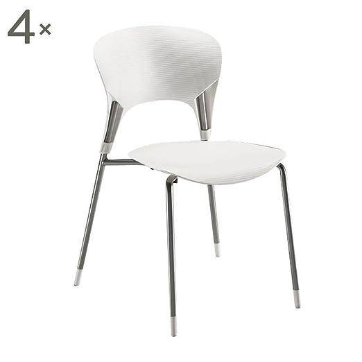 Tomasucci Lolli conjunto de 4 sillas en abs blanco