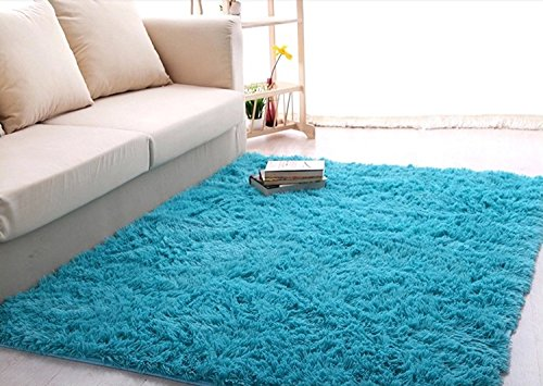 soft 4 5 cm thick modern shag area rugs living room carpet bedroom rug