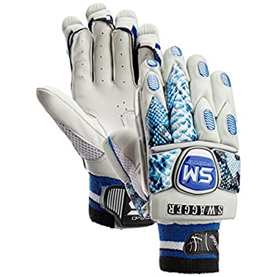 SM Swagger Batting Gloves, Men's  (White/Black)