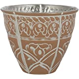 CONJURE Aluminium Tealight Candle Holder (12.5 Cm X 12.5 Cm X 10 Cm, White And Brown)