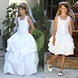 Angels Garment White Embroidered Convertible Communion Dress Girls 8