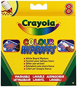 Crayola - Loisir Créatif - 8 Feutres pour tableau blanc lavable (Pointe Large)