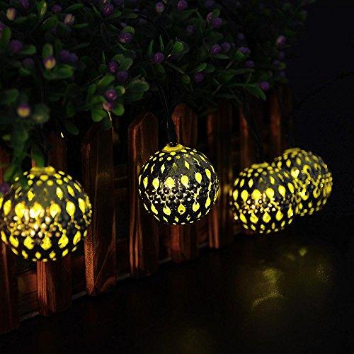 Ledertek 10 Led 11ft Solar Powered Fairy Moroccan Lantern