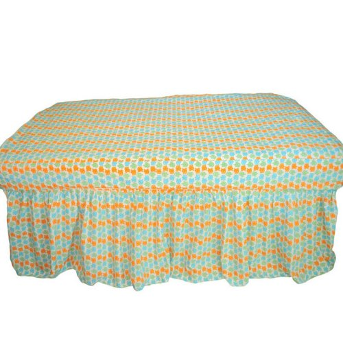 Green Fitted Crib Sheet front-1078886