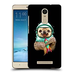 Snoogg Astronaut Animal Designer Protective Back Case Cover For REDMI NOTE 3