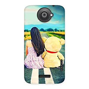 Enticing Girl Teddy Multicolor Back Case Cover for HTC One X