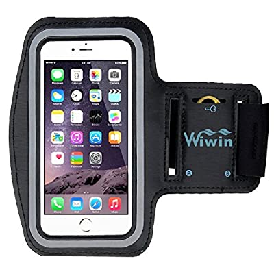 iPhone 6S Armband,WIWIN Shocksock iPhone 6S Arm bands Pocket Holder Sport Gym Bike Cycle Jogging Running Exercise Workout Case Armband with Key Pocket Custom Made for iPhone 6 6S