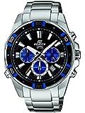 Casio  Edifice - Reloj de cuarzo para hombre, con correa de acero inoxidable, color plateado