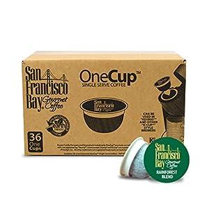 San Francisco Bay OneCup, Organic Rainforest Blend, 36 Single Serve Coffees