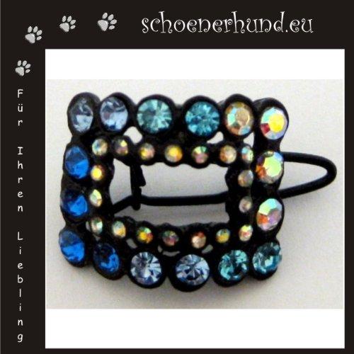 Artikelbild: Haarschmuck für Hunde mit funkelnden Strass - Exklusive Haarspange von Dogs Stars - Haarclipp blau