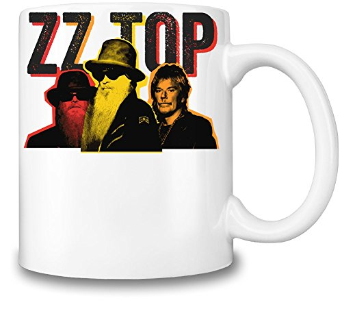 ZZ Top Colorful Illustration Tazza Coffee Mug Ceramic Coffee Tea Beverage Kitchen Mugs By Genuine Fan Merchandise