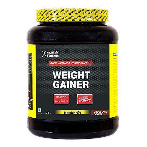 Healthvit Fitness Weight Gainer, Chocolate Flavour (500G)  available at amazon for Rs.499