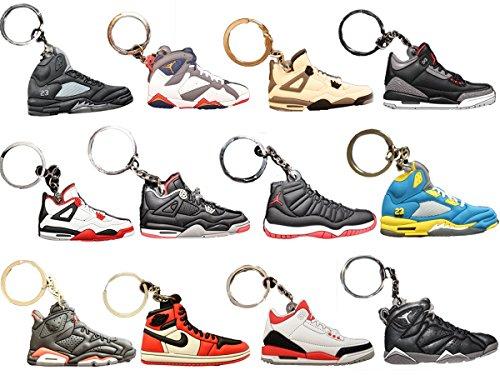 Air Jordan Michael Jordan Shoe Game Basketball Jumpman Key Chain Pack of 12 Keychains