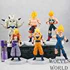 6pcs/lot Super Saiyan Dragon ball Z PVC Action figures